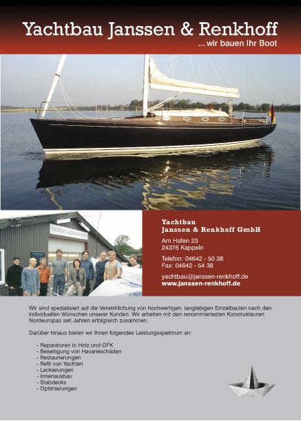 Anzeige Yachtbau Janssen & Renkhoff