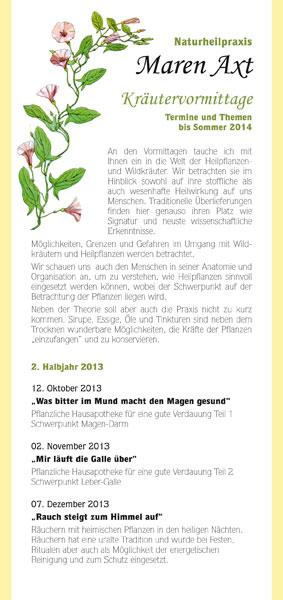 Flyer | Naturheilpraxis Maren Axt