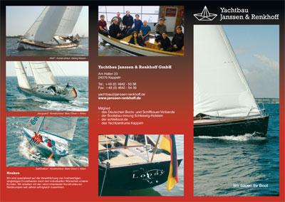 Flyer | Yachtbau Janssen & Renkhoff
