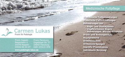 Flyer Podologie Lukas