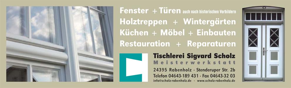 Anzeige Tischlerei Scholz