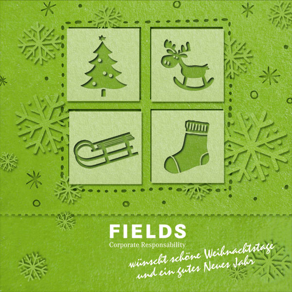 Weihnachtskarte | Fields Corporate Responsability