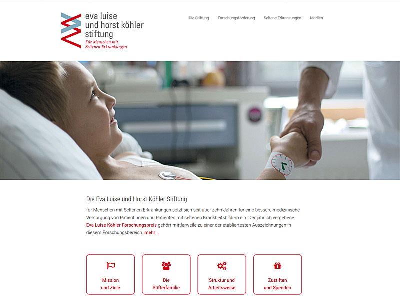 Webseite der Eva Luise und Horst Köhler Stiftung