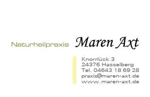 Visitenkarte | Naturheilpraxis Maren Axt