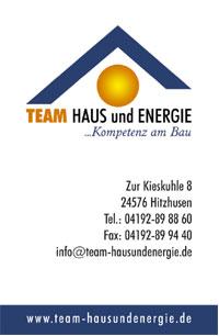 Visitenkarte | Team Haus und Energie
