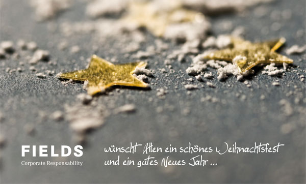 Weihnachtskarte | Fields Corporate Responsability