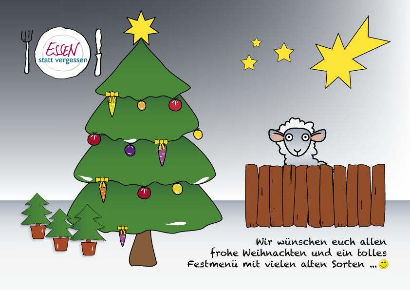 Weihnachtskarte | Essen statt vergessen